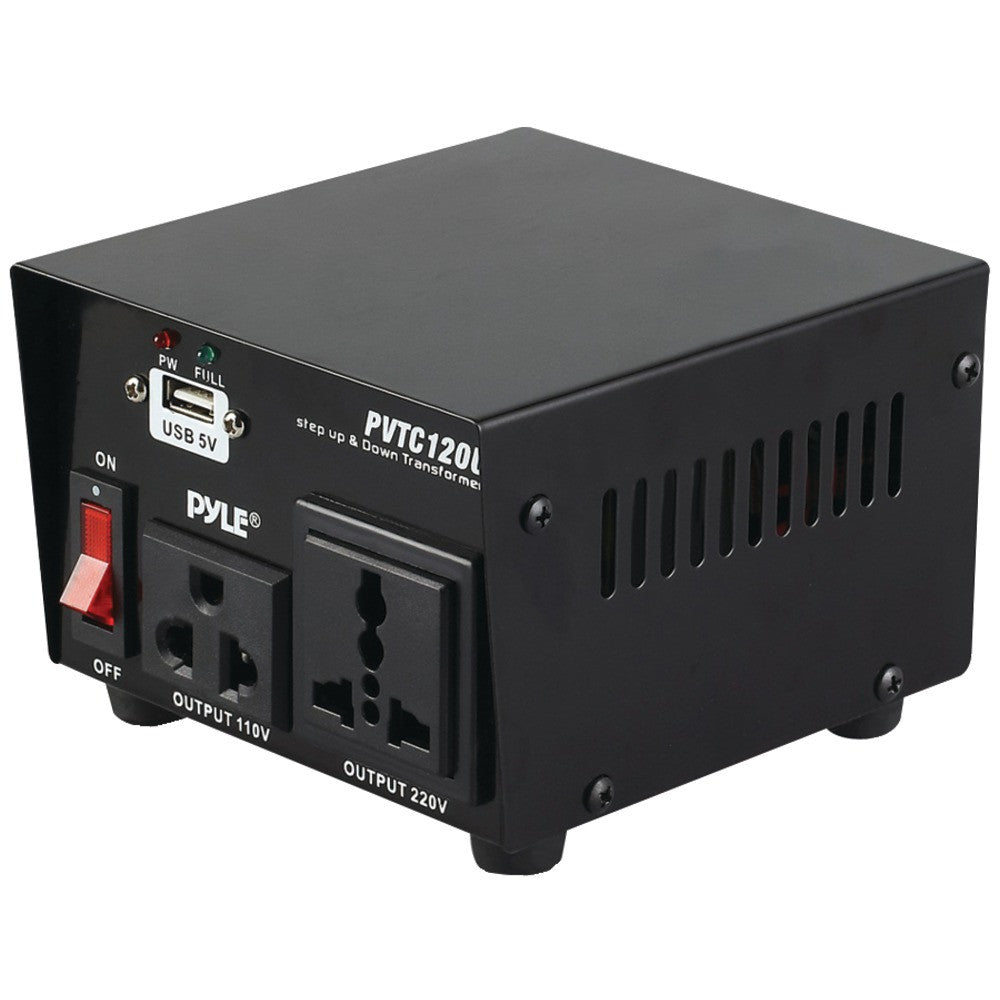 Pyle Step Up & Down Voltage Converter Transformer With Usb Charging Port (100 Watt)