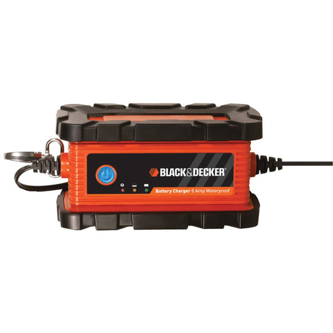Black And Decker Waterproof 6-amp Battery Charger And Maintainer