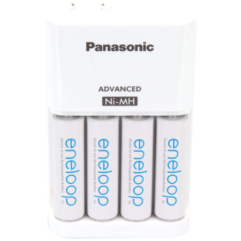 Panasonic 4-position Charger With Eneloop Aa Batteries 4 Pk