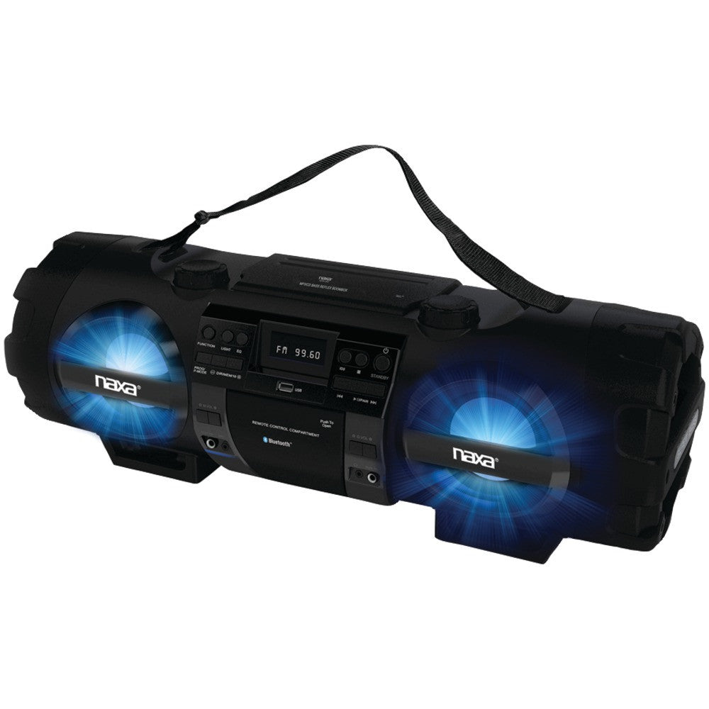 Naxa Mp3 And Cd Bass Reflex Boom Box & Pa System With Bluetooth