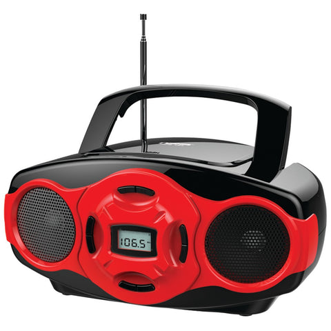 Naxa Portable Mp3 And Cd Mini Boom Box & Usb Player (red)