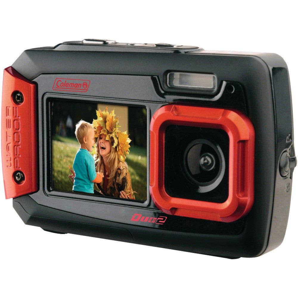 Coleman 20.0 Megapixel Duo2 Dual-screen Waterproof Digital Camera (red)