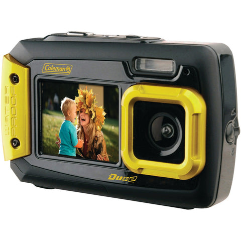 Coleman 20.0 Megapixel Duo2 Dual-screen Waterproof Digital Camera (yellow)