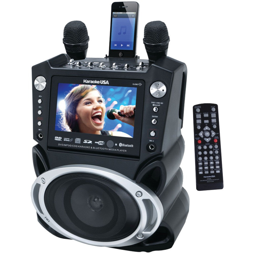 "Karaoke Usa Karaoke System With 7"" Tft Color Screen Record Function & Bluetooth"
