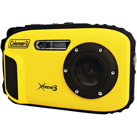 Coleman 20.0 Megapixel Xtreme3 Hd And Video Waterproof Digital Camera (yellow)