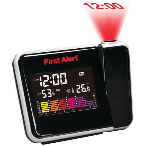 First Alert Weather Station Projection Clock