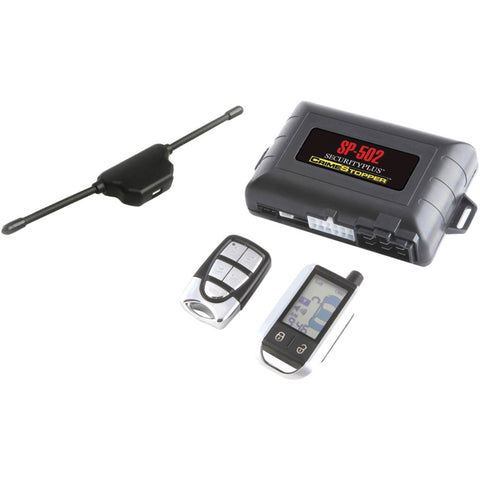 Crimestopper 2-way Lcd Paging Combo Alarm Keyless Entry & Remote Start System With Rechargeable Remote