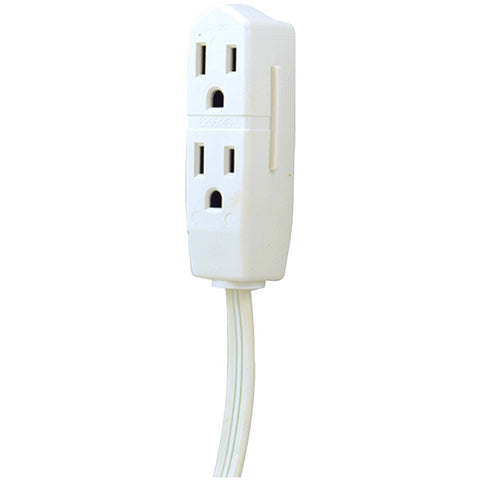 Ge 3-outlet Grounded Office Cord 8ft (white)