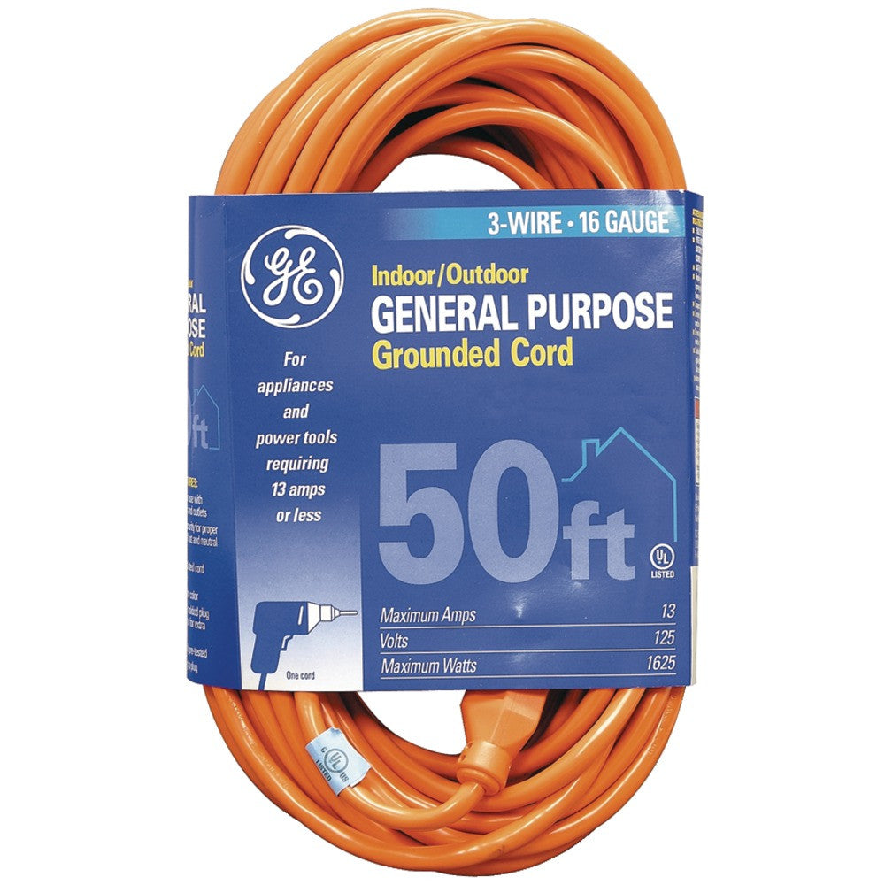 Ge 1-outlet Indoor And Outdoor Extension Cord (50ft)