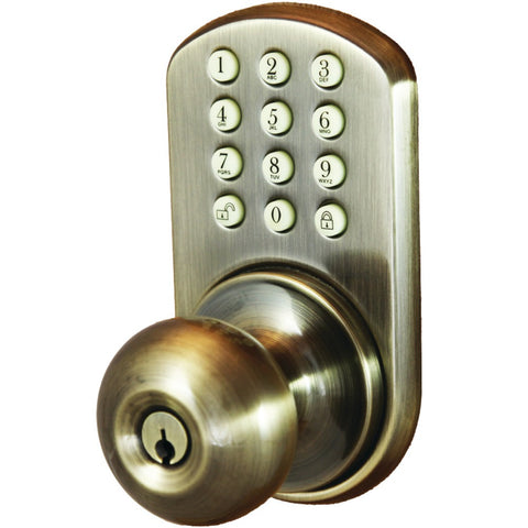 Morning Industry Inc Touchpad Electronic Door Knob (antique Brass)