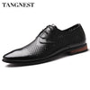 Tangnest 2017 Breathable Men Dress Shoes New Summer Style Pointed Toe Men Leather Shoes  Casual Cut-out Flat Shoe For Man XMP512