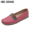 HEE GRAND Spring Ballet Flats 2017 Platform Loafers Slip On Casual Shoes Woman Comfort Women Flat Shoes Size 35-40 XWD5205