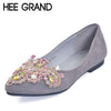 HEE GRAND 2017 Ballet Flats Crystal Casual Shoes Woman Bling Slip On Loafers Platform Elegant Women Shoes Size 35-41 XWD4959