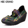 HEE GRAND Casual Platform Shoes Woman Summer Creepers Slip On Mary Janes Wedges Comfort Women Shoes 6 Colors Size 35-41 XWC539