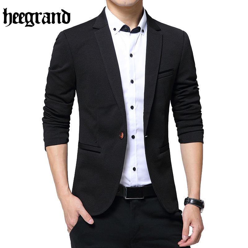 HEE GRAND 2017 New Fashion Style Luxury Business Casual Suit Men Formal Banquet Dress Beautiful Design Plus Size M-5XL MWX391