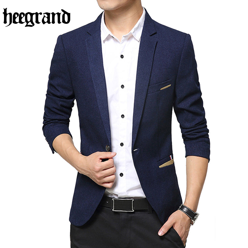 HEE GRAND 2017 Spring And Autumn Fashion Blazer Men Plus Size High Quality Male Casual Blazer MWX403