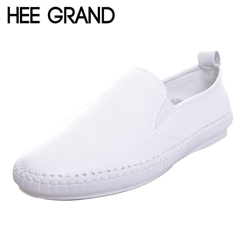 HEE GRAND Cute High Quality Women Loafers Shoes Flat with Slip-ons PU Leisure Shoes Spring Autumn Shoes Woman DWD2588