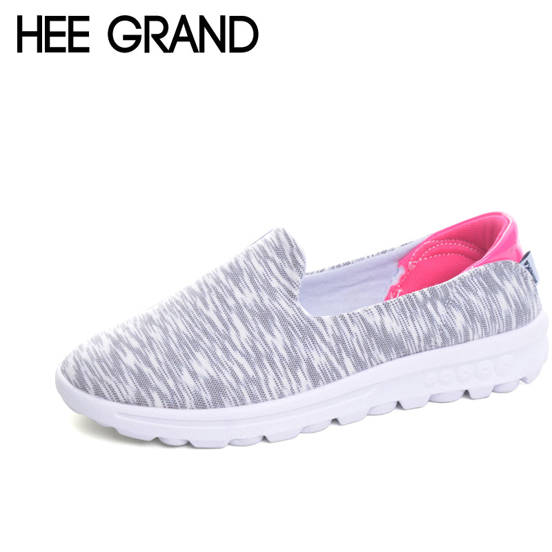 HEE GRAND Comfortable Loafers 2017 Casual Creepers Slip On Shoes Woman Shallow Flats Spring Autumn Women Flat Shoes XWC1032