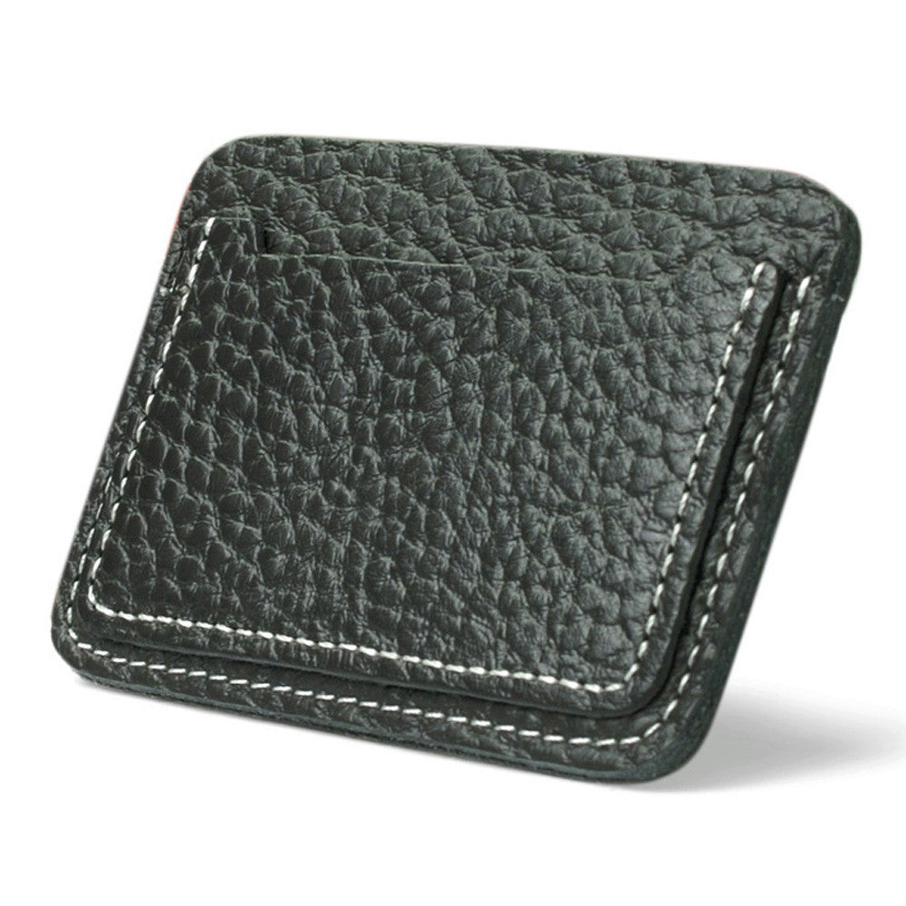 small zip wallet card holder Men Leather wallets for plastic cards Clutch Coffee Black color  Drop shipping #7m