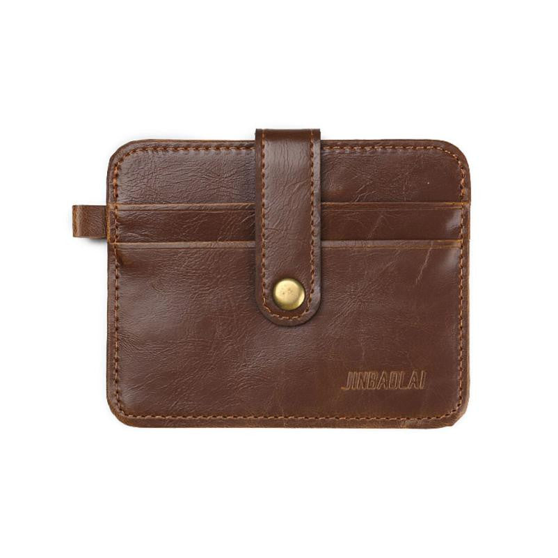 JINBAOLAI Mens Leather Clutch Billfold Wallet Credit ID Card Slim Purse Men's Wallet carteras mujer #JYYW