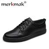 Big Size 47 breathable men genuine leather shoes cowhide casual brand men flat shoes summer fashion lace up foowear for adults
