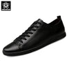 URBANFIND Genuine Leather Men Shoes Black / White Footwear Plus Size 39-47 High Quality Man Lace-up Casual Flats 45 46 47
