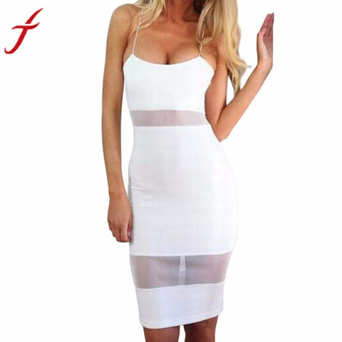 Women Sexy Sleeveless Camis Bodycon Summer Dress Evening Party Bandage Dress for Women 2017