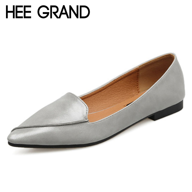 HEE GRAND Spring Loafers Split Leather Solid Moccasin Platform Shoes Woman Slip On Flats Comfortable Casual Women Shoes XWX6702