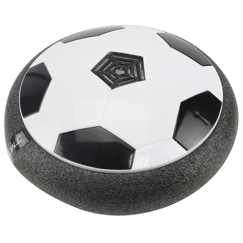 Floating Air Power Soccer Ball Floating Football Glide Disk with LED Light Music Multi-Surface Hovering Gliding Sports Toys