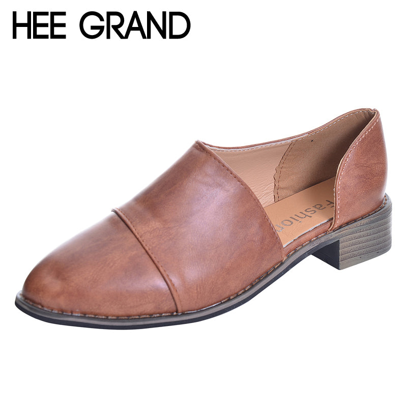 HEE GRAND 2018 New Loafers Neutral Pumps Casual Fisherman Shoes Woman Slip On Comfort Pointed Toe Women Shoes Size 36-43 XWD6239