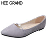 HEE GRAND Pearl Decoration Women's Flats Pointed Toe Woman Solid Shoes Slip-on Ladies Shoes 35-41 XWD6438