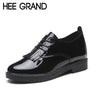 HEE GRAND Fringe Decoration Women Flats 2018 New Spring Fashion Shoes Women Causal Shoes Light Shoes with Lace-up Oxfords