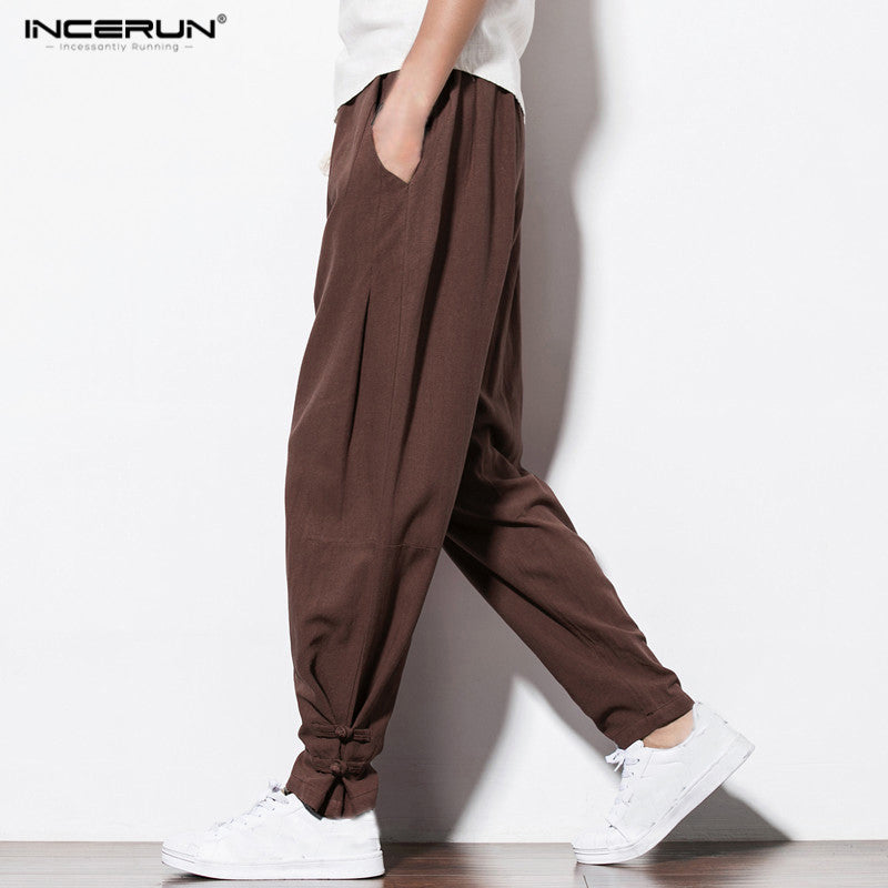 INCERUN Autumn New Harem Pants Men Casual Sweatpants Elastic Waist Pantalon Harem Coton Mens Joggers Pants Men Hip Hop Trousers