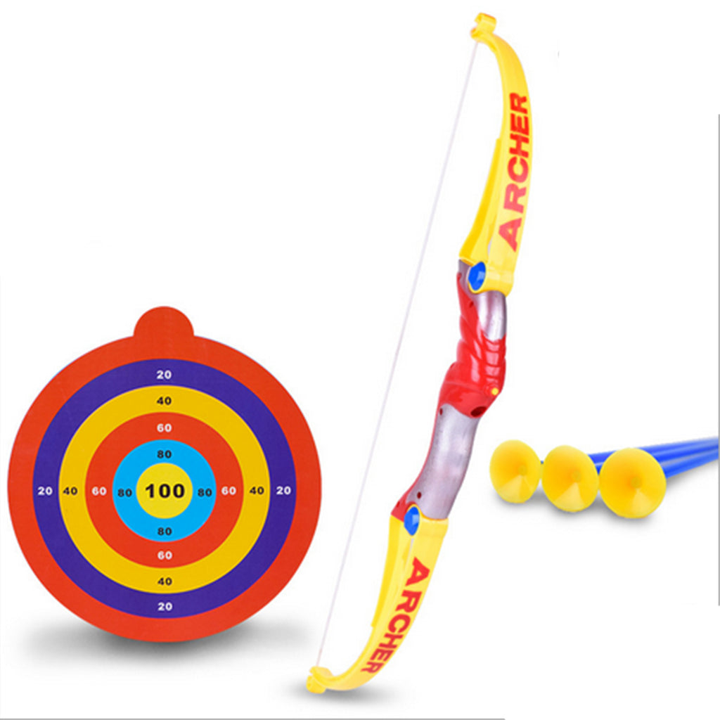 Funny Plastic Archery Bow And Arrow Toys For Children with Sucker,Gifts Set,Outdoor Garden Shooting Games Toy
