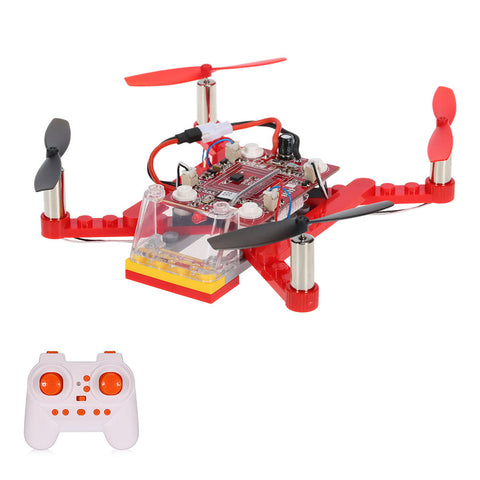 2.4G 4CH 6-Axis Gyro Mini DIY Building Block Drone RC Quadcopter Children Gift Toy