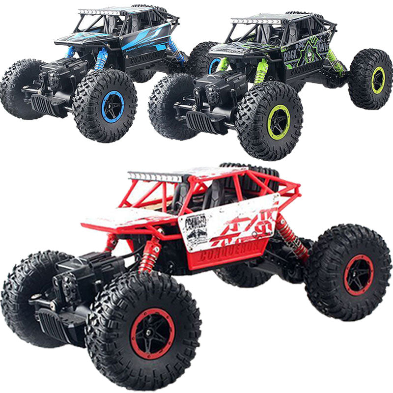 RC Rock Racing Vehicle Cars 2.4Ghz High Speed 1:18 Remote Radio Control Electric Crawler Buggy Hobby Car Crawler Truck Gift M09