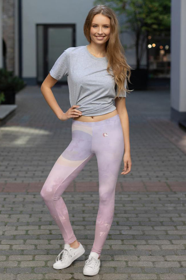 Dusk to Dawn- Blush Leggings