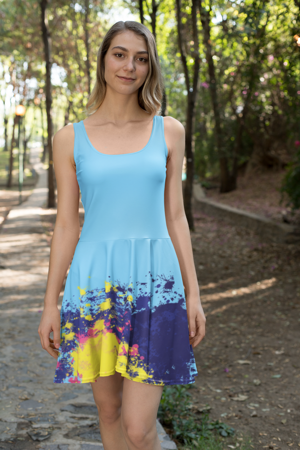 Aestheletic- Beneath the Sky Skater Dress