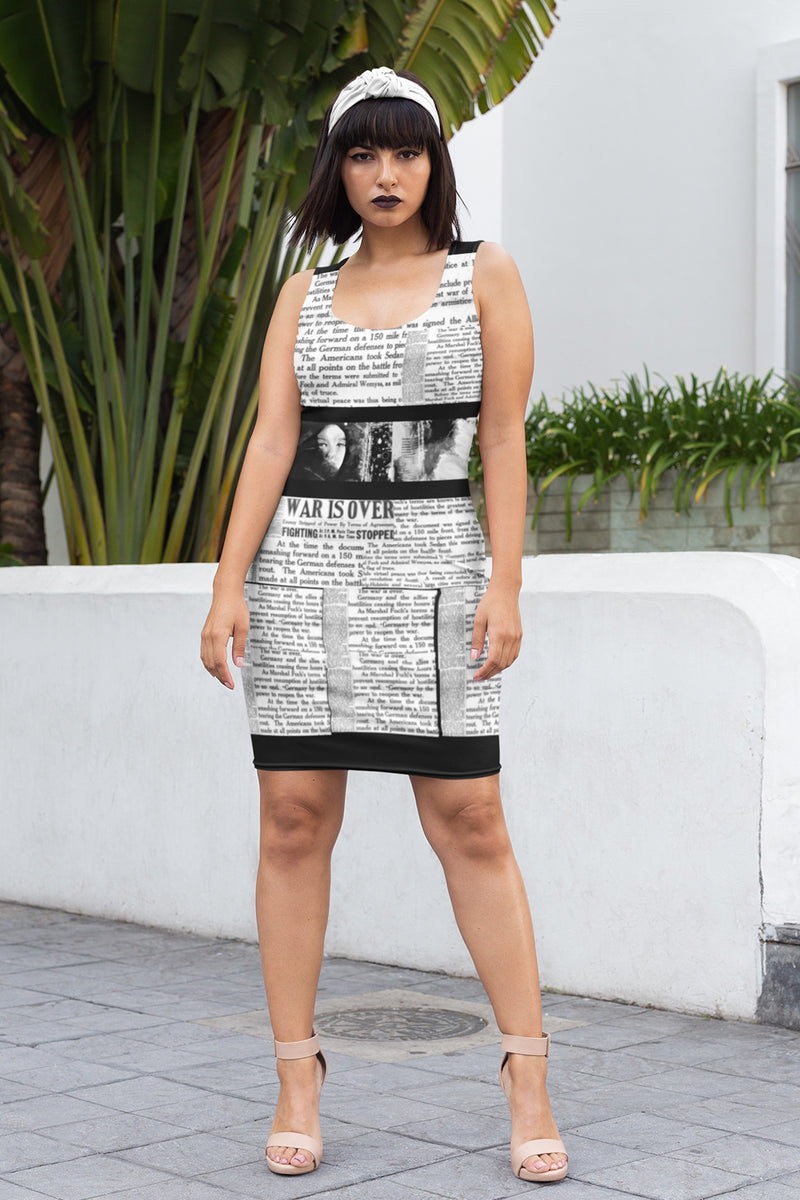 WAR IS OVER BLACK SUBLIMATION DRESS