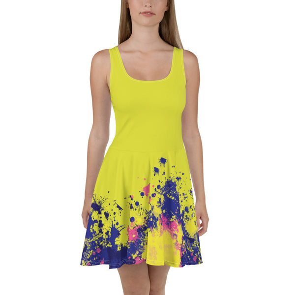 Aestheletic- Yellow Chello Skater Dress