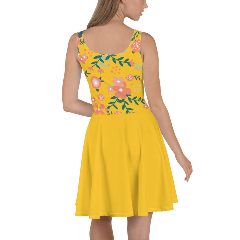 Aestheletic- Yellow Bellow Skater Dress