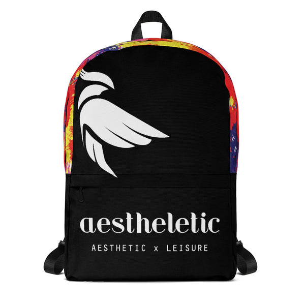 Aestheletic OFFICIAL - White on Black Unisex Backpack