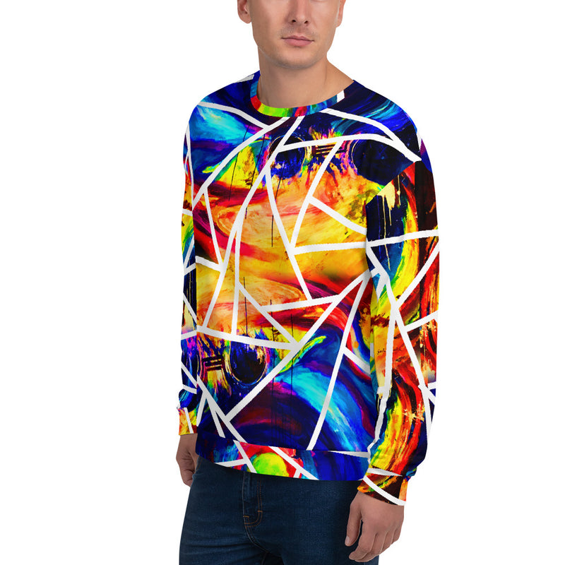Circle of Conception, Coloured All-over Unisex Sweatshirt