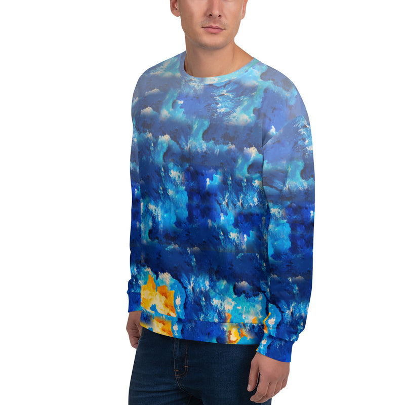 Oscillating Waves Unisex Sweatshirt