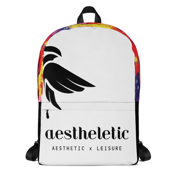 Aestheletic Official- Unisex White Backpack