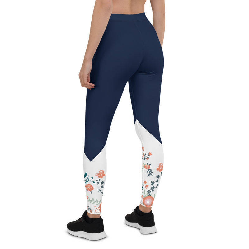 Aestheletic Floral Navy Workout Leggings