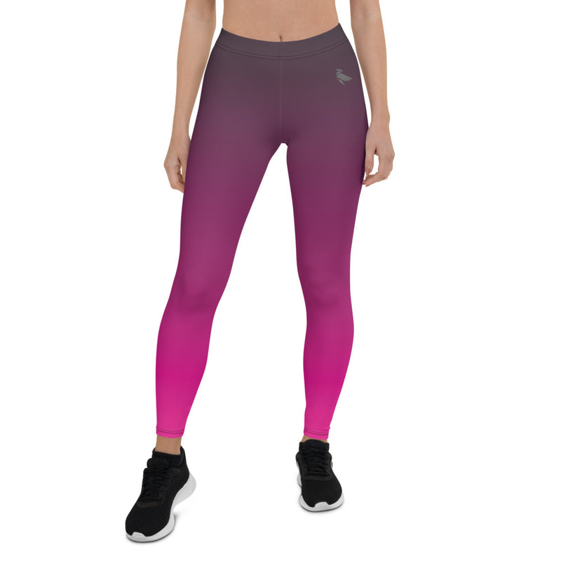 Aestheletic Official- Pink Grey Ombre Workout leggings