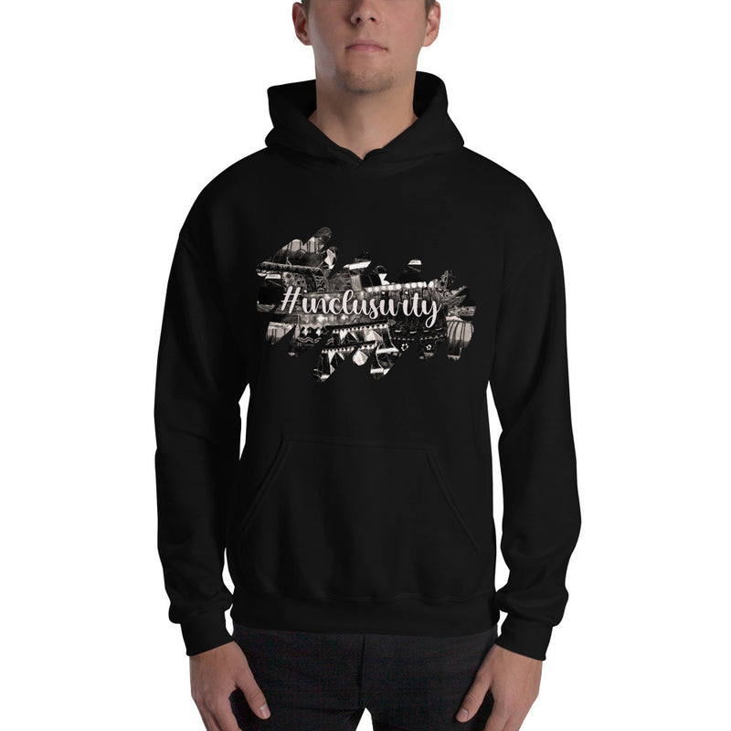 Gentle Giants: B&W strokes, #inclusivity, Unisex Hoodie
