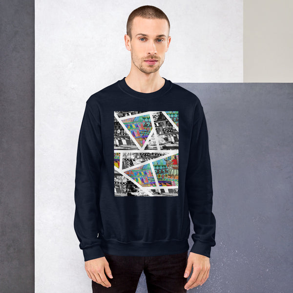 Gentle Giants: Geometric, Unisex Sweatshirt