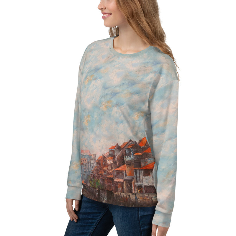 Riverside, All-over Print Unisex Sweatshirt